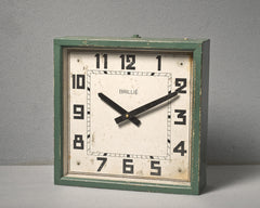Art Deco French Factory Clock, circa 1930