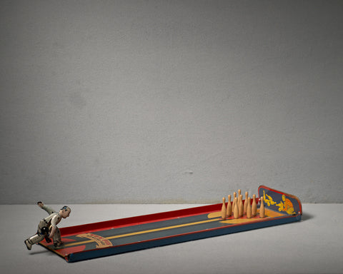 Mechanical Ten Pin Bowling Toy, 1930s