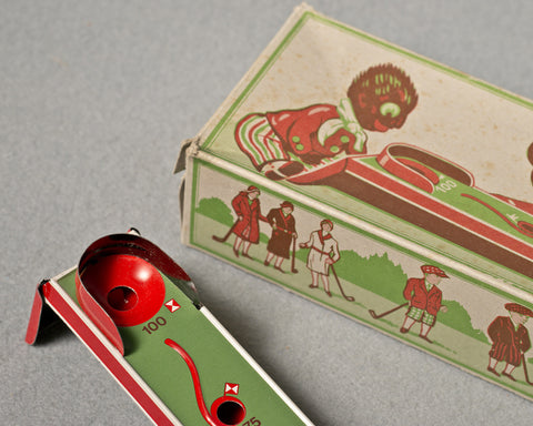 A Mechanical Tinplate Golf Game, 1960's