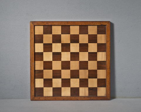 A Rosewood Chess Board, 19th century