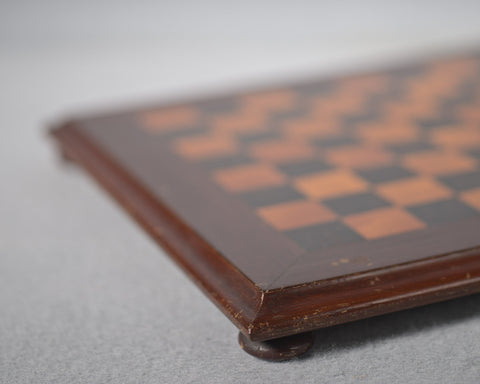 Small Mahogany & Satin-Birch Chess Board