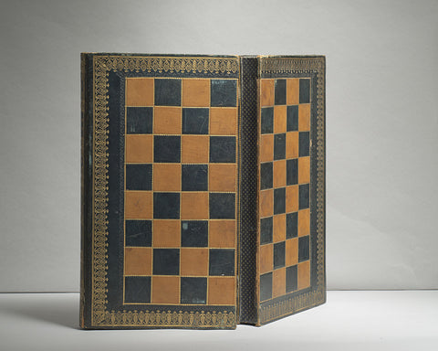 A Victorian Leather Games Board/Box