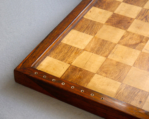 Magnificent Antique Rosewood Chess Board