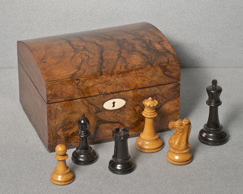 A Jaques 4 ¼ inch Chess Set, circa 1900