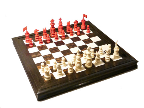Leuchars Chess Set and Board, 19th century