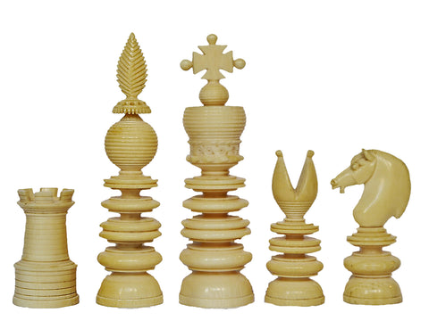 Antique Ivory Chess Set