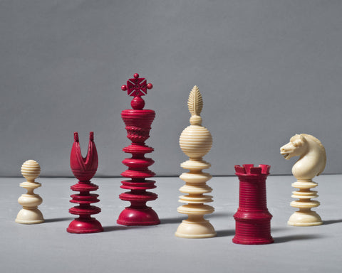 """Lund"" Ivory Chess Set, circa 1850"