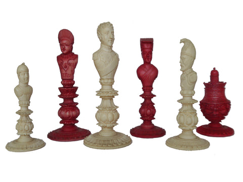 Wellington Chess Set, Macao Export, circa 1820