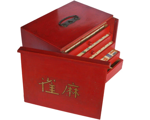 chinese vintage antique mahjong set