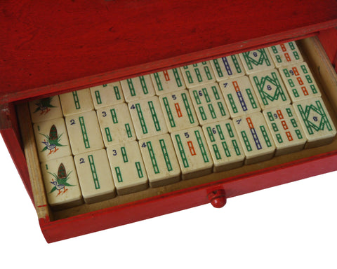 antique mahjongg set