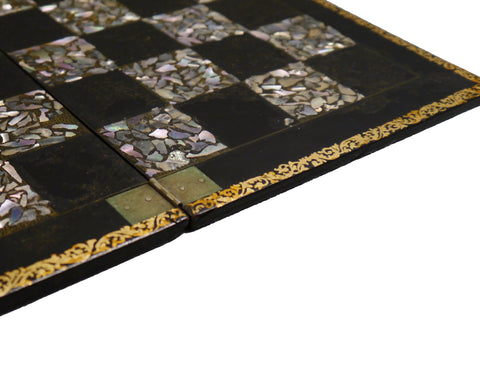 Antique Mother of Pearl Inlaid Chess Board