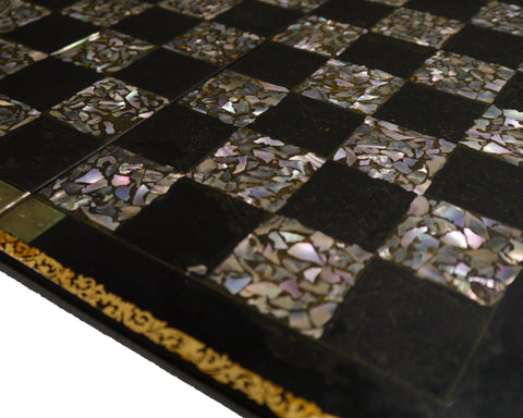 mother of pearl chess board
