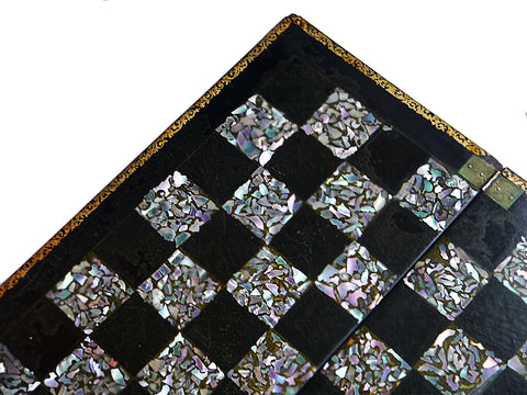 mother o pearl chess board