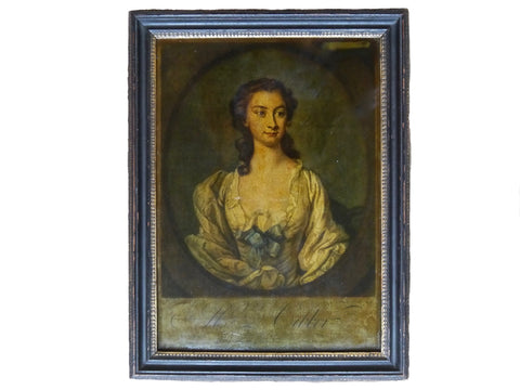 antique reverse glass mezzotint