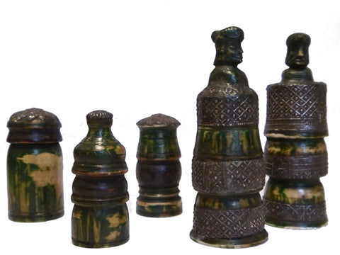 Unusual Muslim Chess Set, India, 19th Century