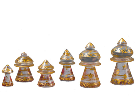 Islamic Muslim Rock Crystal Chess Set