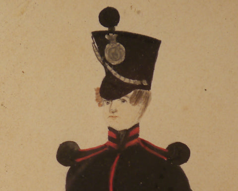 Infantry Officer, Naive Portrait, circa 1810