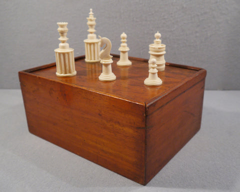 Unusual Nuremberg Chess Set, 19th century