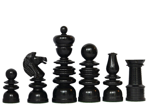 "Antique ""Old English"" Chess Set"