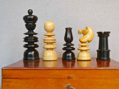 """Old English"" Chess Set, 19th century"
