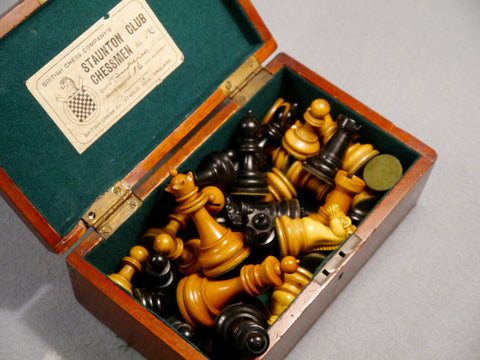 British Chess Company Staunton Set, circa 1900