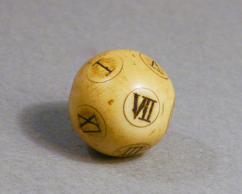 Ivory Teetotum Ball, early 19th century