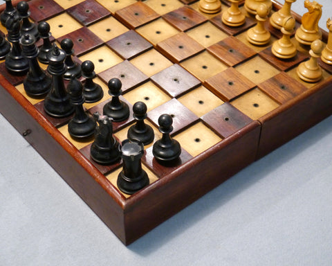 Unusual Staunton Chess Set for the Blind