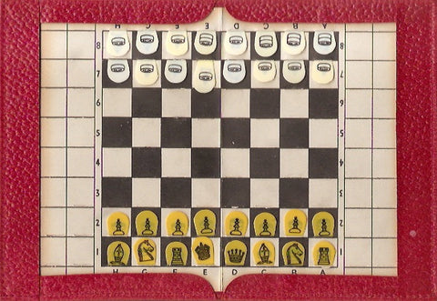 A Pocket Draughts & Chess Set, circa 1950