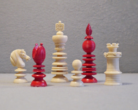"""Lund"" Double Rook Chess Set, circa 1840"