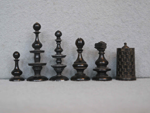 Rare Early English Chess Set, circa 1670