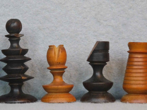 Early English Chess Set, 18th Century