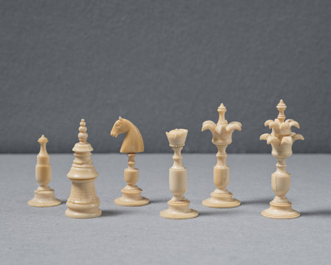 An Unusual German Chess Set, 18th century