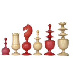 French Régence Bone Chess Set, 19th century