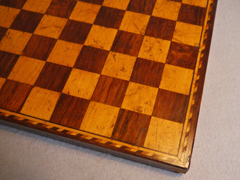 Rosewood Chess Board, Early 19th century