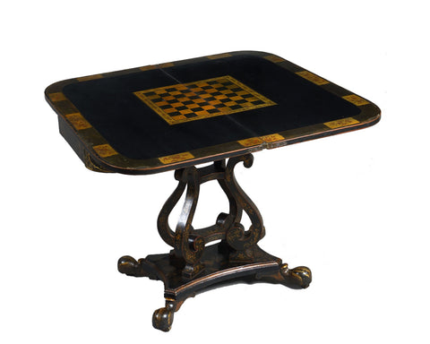 Fine English Regency Chess Table, circa 1815