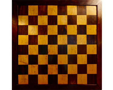 Large English Chess Board, 19th century