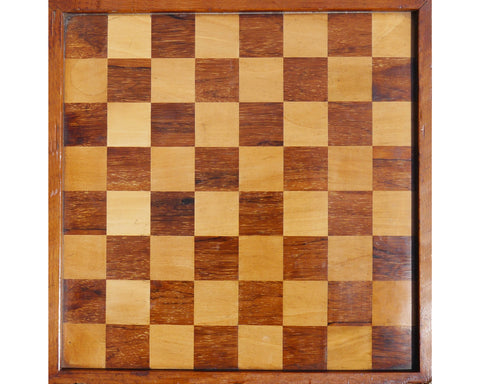 English Rosewood Chess Board, 19th century