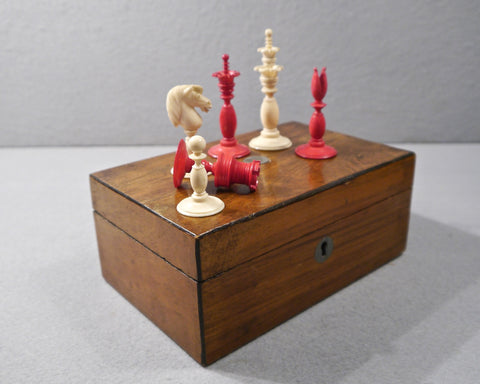 English Chess Set by Fisher, mid 19th century