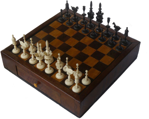 antique selenus chess set