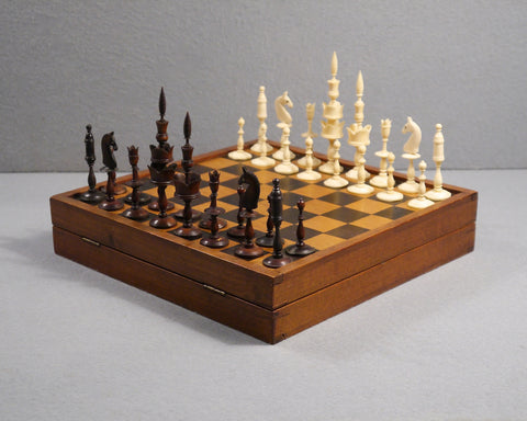"German ""Selenus"" Chess Set, 19th century"