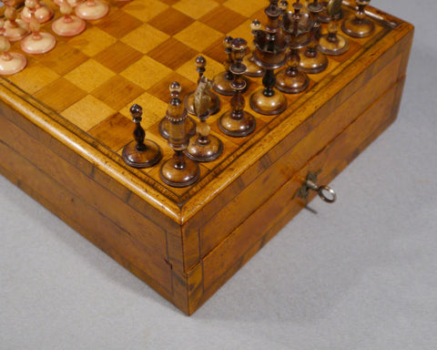 """Selenus"" Chess Set & Board, 18th century"