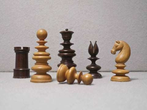 Signed Calvert Chess Set, Early 19th century