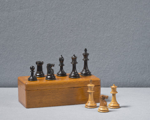 A Staunton Chess Set, circa 1890