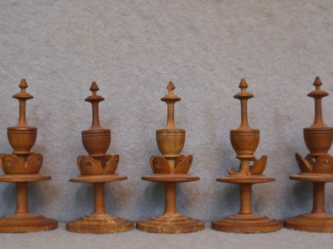 South German Pearwood Chess Set, circa 1800