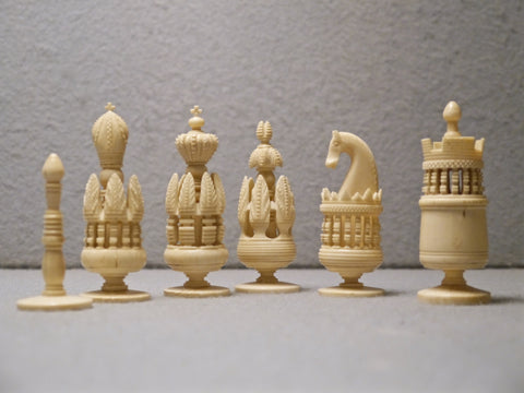 """Spanish Pulpit"" Bone Chess Set, 18th century"