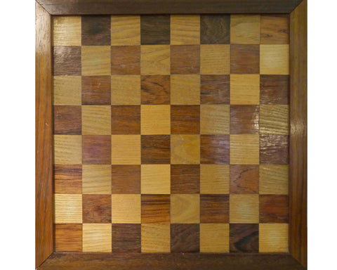 Specimen Wood Chess Board, circa 1900