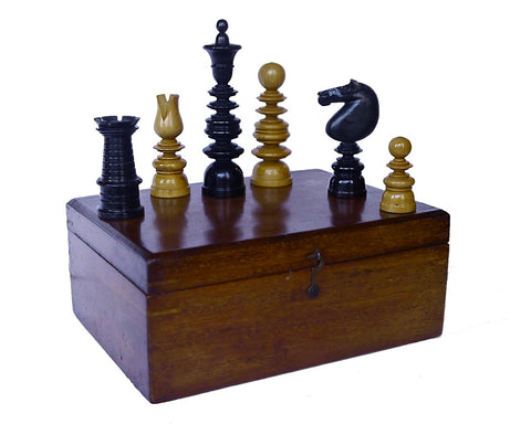 vintage antique st george chess set