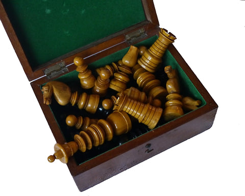 """Calvert"" Ebony Chess Set, 19th Century"