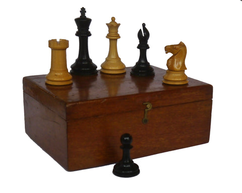 Staunton Boxwood Chess Set, circa 1900