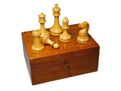Good Staunton Chess Set, Late 19th century